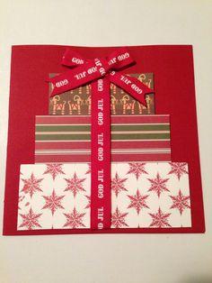 Julkort med paket
