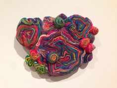 """Vortex of Thinking,"" wool, by Mizuki Machida, on view at the Sculpture Center, Cleveland."