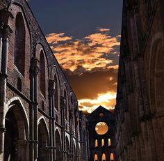 The Abbey of San Galgano, Province of Siena, Tuscany region Italy