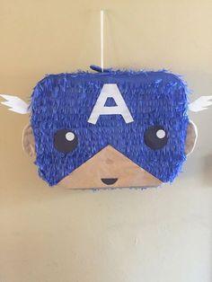 Our creation, your celebration por iPinata Avengers Birthday, Superhero Birthday Party, 9th Birthday, Captain America Party, Captain America Birthday, Mini Party, How To Make Pinata, Hulk Party, Ideas Para Fiestas