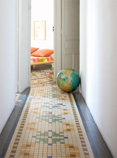 hallway tiles. different