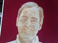 Rajiv Gandhi  Former Prime Minister of INDIA.  by museumshop, $300.00.  Have you SEEN ancient leaf art?  Can U BELIEVE it is made of leaves! I am an artist from Galveston, Texas.  UNIQUE, HANDMADE in USA  leaf art for your home, office or corporate gift needs visit www.etsy.com/shop/museumshop.