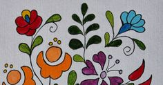 By now you know that I am obsessed with Hungarian Folk Art. Traditionally in Hungary this type of art is painted. It is also embroidered . Folk Art Flowers, Flower Art, Pattern Art, Art Patterns, Hungarian Embroidery, Pallet Painting, Types Of Art, Hungary, Shabby Chic
