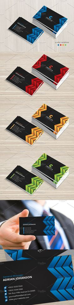 Creative Business Card. Photoshop Textures