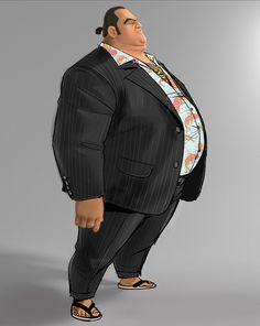 Yama…. in Big Hero 6 in early development, he was a yakuza, former pro wrestler.