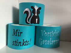 """Klopapierhüte & -verstecker - Klorollenverstecker """"Mir stinkts"""" - ein Designerstück von HandartbyInga bei DaWanda"""