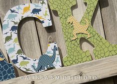 NEW 12 Inch Size Large Nursery Letters - Custom Nursery Wooden Letters - Dinosaur Theme on Etsy, $20.00