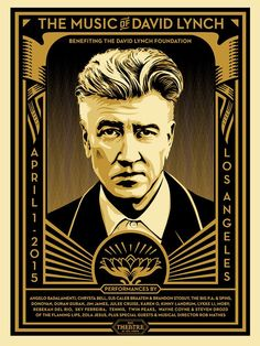 Shepard Fairey The Music of David Lynch Poster Los Angeles 2015 Obey Giant David Lynch, Shepard Fairey Posters, Shepard Fairey Obey, Screen Print Poster, Poster Prints, Art Print, Illustrations, Illustration Art, Twin Peaks Poster