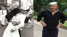 Verified that, Glenn Edward McDuffie (R) was the sailor kissing the nurse at the end of WWII, on V-J DAY (L).