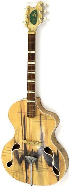 1960 Wandre Brigitte Bardot archtop Acoustic Guitar --- https://www.pinterest.com/lardyfatboy/