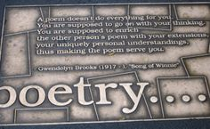 Gwendolyn Brooks on what to expect from poetry