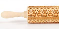 Leluja II,  Polish folk pattern, Embossing rolling pin, Engraved rolling pin