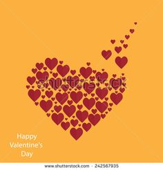 Valentine's Day background and card