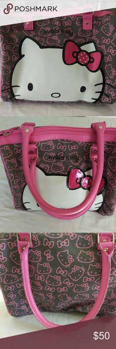 "Hello Kitty Satchel Zipper Purse Height 9"". Depth 9"". Length 12"" Hello Kitty Bags Satchels"