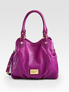 31bb4cee6889 Marc by Marc Jacobs Violet Leather Classic Q Fran Tote Bag Designer Bags  Outlet