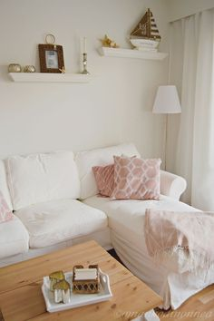 Livingroom with pink details. Couch, Living Room, Pink, Furniture, Home Decor, Settee, Decoration Home, Sofa, Room Decor