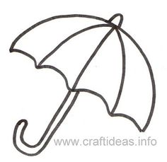 Free Craft Patterns and Templates - Umbrella Template Animal Coloring Pages, Coloring Pages For Kids, Toddler Crafts, Preschool Crafts, Printable Crafts, Free Printables, Umbrella Template, Rain Crafts, Weather Crafts