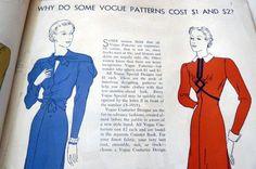 Vogue Pattern News, Dec. 1, 1936 featuring Vogue ???
