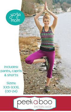 The Yoga Mom sewing pattern includes yoga pants, capris and shorts! It's the perfect pattern for the busy mom on the go; from yoga to the grocery store you can do it all with Yoga Mom! Sewing Pants, Sewing Clothes, Diy Clothes, Chewbacca, Pdf Sewing Patterns, Clothing Patterns, Sewing Tutorials, Sewing Ideas, Sewing Diy