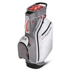 Sun Mountain Womens Series One Bag Designed for riding cart use, the top on the Series One cart bag is reversed so the short irons load in front of the woods and long irons for easy club selection and retrieval. Plus, all pockets are forward-facing and accessible while the golf bag is on the cart and two lift-assist handles ease getting the bag in and out of your trunk or onto the cart. For women, we made the bag one inch shorter to better fit ladies' clubs. Product Features: 15 individual…