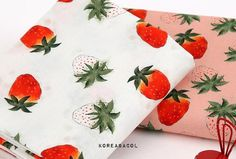 Scandinavian Fabric, Fruit Pattern, 2 Colours, Berries, Unique Jewelry, Sweet, Handmade Gifts, Cotton, Vintage