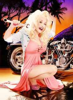 "xvndrewx: "" David LaChapelle x Dolly Parton "" I know this might surprise everyone, but I don't know how to fix a motorcycle ; David Lachapelle, Mario Testino, Dolly Parton Feet, Dolly Parton Pictures, Rockabilly Baby, Country Artists, Hello Dolly, Timeless Beauty, Classic Beauty"