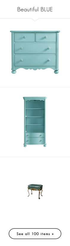 """""""Beautiful BLUE"""" by lynxe ❤ liked on Polyvore featuring furniture, accessories, home, storage & shelves, bookcases, bookcase, coastal cottage furniture, colored furniture, coastal furniture and coastal style furniture"""