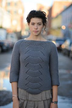 Camilla pullover, from Quince and Company