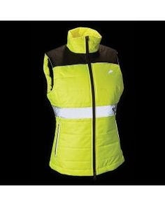 Harry Hall Women's Hi Viz Down Like Gilet - The Harry Hall Hi Viz Women Down Like Gilet is a quilted down like gilet with reflective prints and trim back and front for maximum visibility.The Harry Equestrian Collections, Outdoor Woman, British Style, Work Wear, Adidas Jacket, Jackets, How To Wear, Clothes, Safety