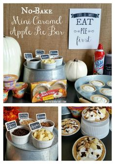 No-bake mini caramel apple pie bar  #snickerdoodlesunday