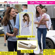 Kate Middleton's Father's Day Outfit — Recycles Striped Top & Boat Shoes - Hollywood Life