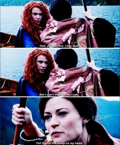 """#OnceUponATime 5x06 """"The Bear and the Bow"""" - Merida and Belle"""