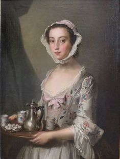 'Girl with a Tray' by Philip Mercier, c. 1750, Hermitage.