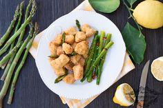 Pollo+croccante+con+asparagi