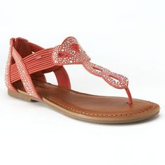 Candie's® Women's Embellished T-Strap Sandals
