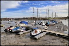 27th January 2014. High and dry at the marina in Fareham, Hampshire.