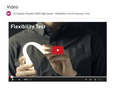 LG Display Flexible OLED light panel - Flexibility Test & Hammer Test