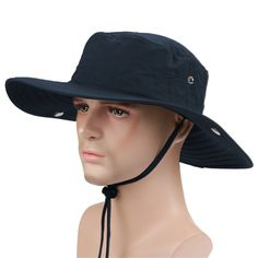 db0561b2140 Amazon.com   YAHUIPEIUS Multifunctional Outdoor Cowboy Hat Wide Brim Caps  Sun Block Fishing Hat