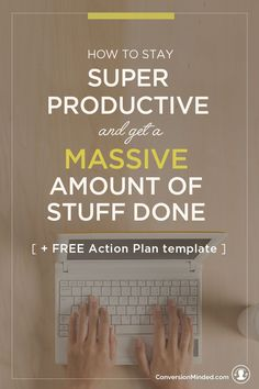 "Ready to turn your to-do list into a Get-It-Done Action Plan? This post will help! It's a simple guide for entrepreneurs and business owners to help you prioritize goals, and identify specific tasks to achieve them. It also includes my secret ""increase productivity"" weapon – the Time Block Template. Use it to create a visual calendar so you know exactly what to do to each week. Click through to see the whole guide!"