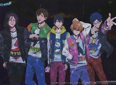 Free! Rin, Makoto, Haruka, Nagisa, Rei.