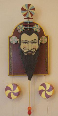 Devillish Sweet Maker    Hand painted wooden automaton, Lindsey carr