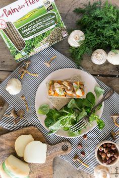Tartines Craquantes Bio et sans gluten aux lentilles vertes Associant la légumineuse à la céréale, ces tartines bio 100% France sont sources de protéines et riches en fer, et riche en goût !