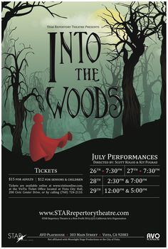 Into the woods poster as a wedding invite