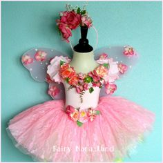 Childu0027s fairy costume - adorable little girlu0027s pink rose flower fairy ... & Girls fairy costume - The Autumn Rose Fairy - Halloween costume red ...