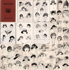 1925 Millinery book by Ane Loewen