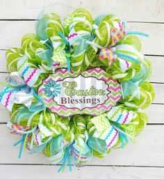 Check out this item in my Etsy shop https://www.etsy.com/listing/505889544/easter-wreath-welcome-wreath-spring
