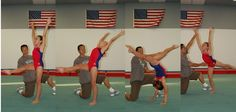 How to do a back walkover: back walkover with a spot