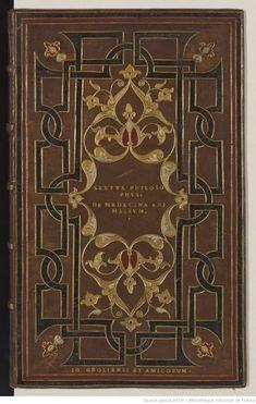 Reliure de : Contenta in hoc opere : Sextus philosophus platonicus de Medicina animalium bestiarum, pecorum et avium, cum scholiis Gabrielis Humelbergii,... | Gallica