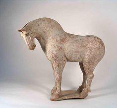 Dynamic Tang Dynasty Pottery Horse (item #399564, detailed views) Asian Sculptures, Art Asiatique, Artistic Installation, Historical Artifacts, Horse Sculpture, Ceramic Animals, China Art, Horse Art, Ancient Art