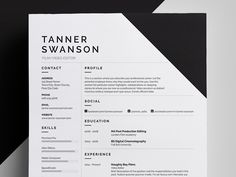 A striking yet functional design for those looking to stand out from the crowd. Including Resume/CV and Cover Letter templates.